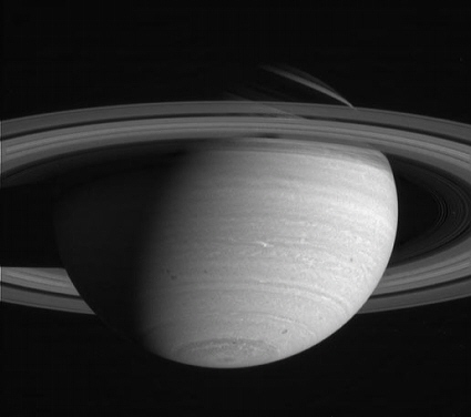 Cassini spacecraft near infrared image of Saturn