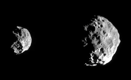 Cassini spacecraft image of Saturn's moon Phoebe