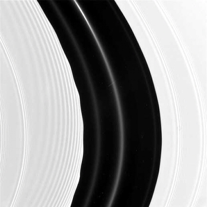 Cassini spacecraft image of Saturn's rings