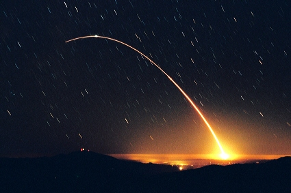 Minuteman III ICBM test launch from Vandenberg AFB