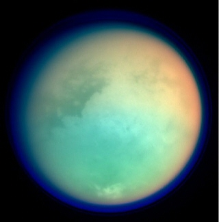 Cassini spacecraft image of Saturn's moon Titan