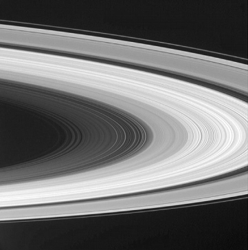 Cassini spacecraft infrared image of Saturn's rings