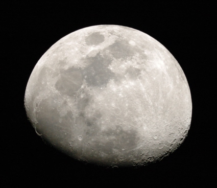 Digital image of the gibbous Moon