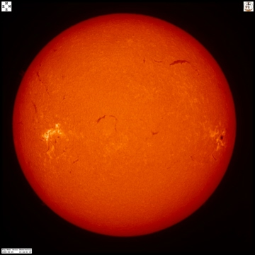 Hydrogen alpha image of the Sun from Big Bear Solar Observatory