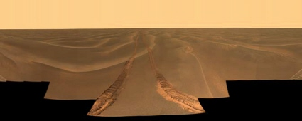 Martian panorama from the Opportunity Mars rover