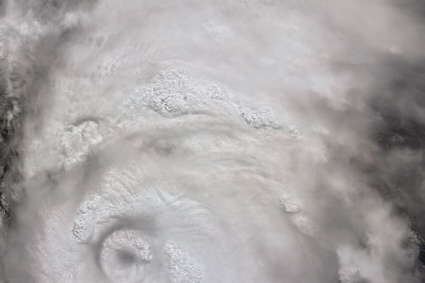 Terra satellite MISR instrument image of Hurricane Katrina