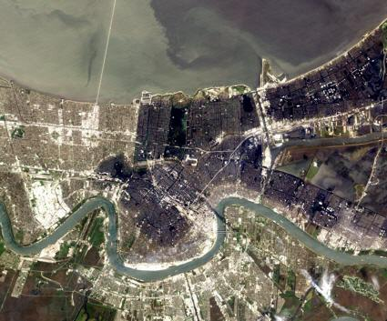 EO-1 satellite image of New Orleans after Hurricance Katrina