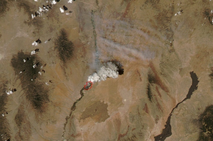 Aqua satellite image of the Marcial, New Mexico fire