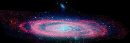 Spitzer Space Telescope infrared image of M31, the Andromeda Galaxy