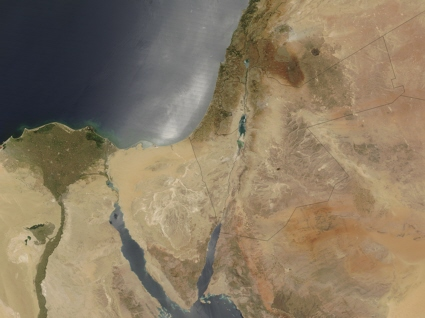 Terra satellite image of the Middle East