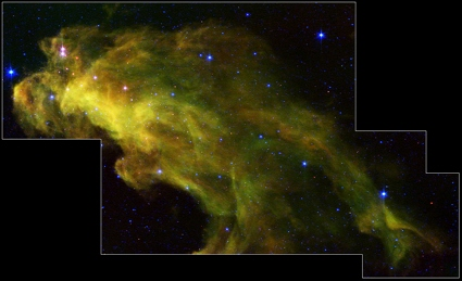 Spitzer Space Telescope image of the Witch Head Nebula