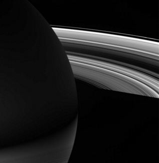 Cassini spacecraft image of Saturn and its rings