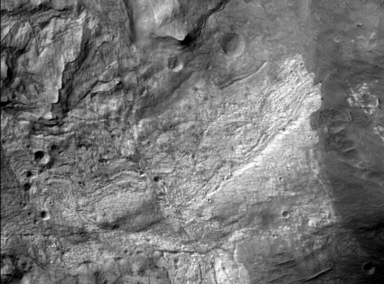 First image from the Mars Reconnaissance Orbiter HiRISE camera