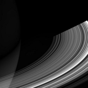 Cassini spacecraft image of Saturn's C ring