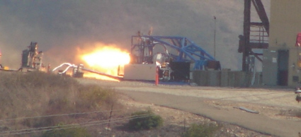 Test firing of SpaceDev hybrid rocket motor