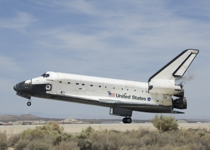 Space Shuttle Atlantis (STS-117) lands at Edwards AFB