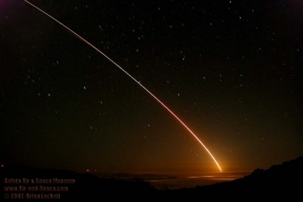 Chimera target missile launch from Vandenberg AFB