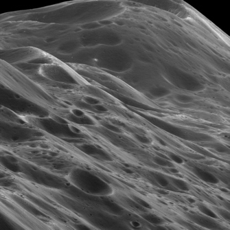 Cassini spacecraft image of Saturn's moon Iapetus