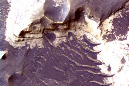 Mars Reconnaissance Orbiter spacecraft image of Holden Crater