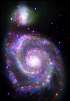 Multispectral image of the Whirlpool Galaxy, M51