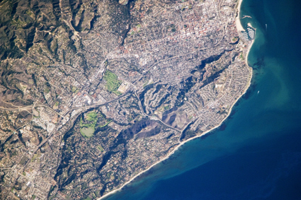 Photo of Santa Barbara from the International Space Station