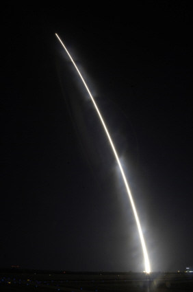 Taurus rocket carrying the Orbiting Carbon Observatory lifts-off from Vandenberg AFB