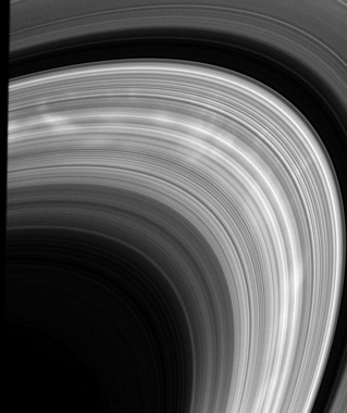 Cassini spacecraft image of Saturn ring spokes