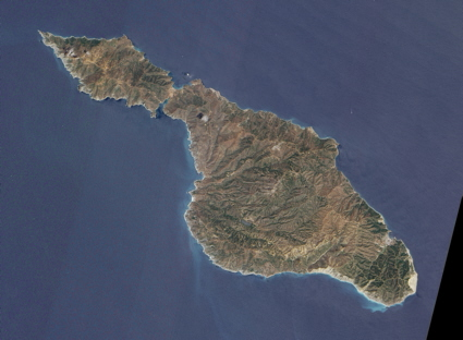 EO-1 spacecraft image of Santa Catalina island