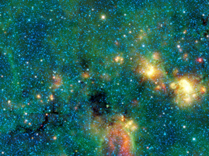 WISE spaceraft infrared image of Milky Way