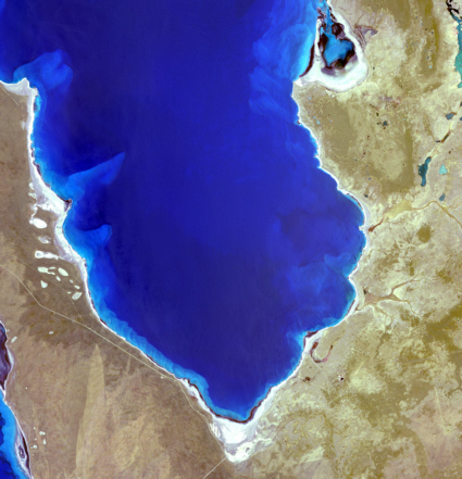 Terra spacecraft view of Shark Bay, Australia
