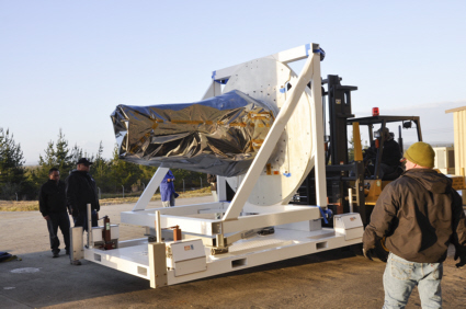 IRIS spacecraft arrives at Vandenberg AFB