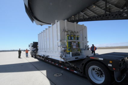 DMSP F19 satellite arrives at Vandenberg AFB