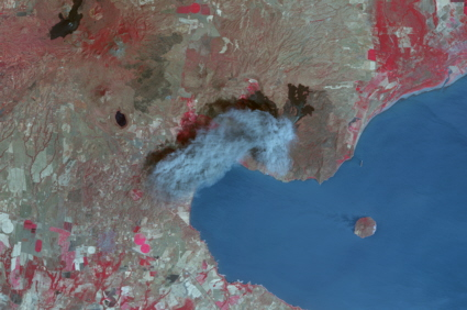 Satellite image of Momotombo volcano