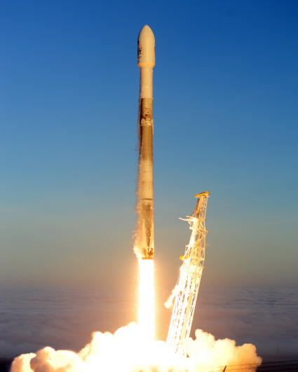 Falcon 9 Iridium Mission 5 launch