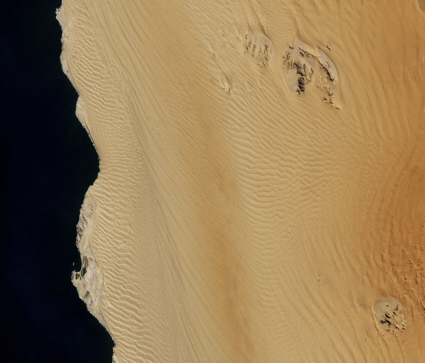 Landsat 8 image of the Namib Sand Sea
