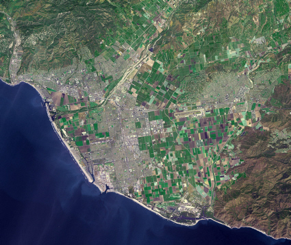 Terra satellite image of Ventura, California