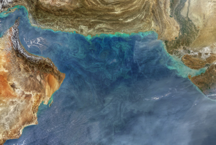 Aqua satellite image of the Arabian Sea