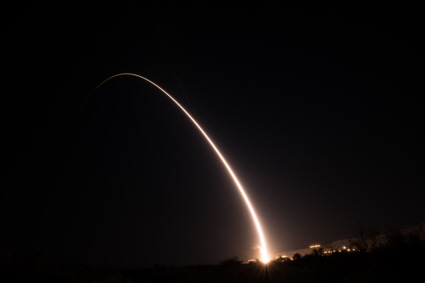 Minuteman III launch from Vandenberg AFB