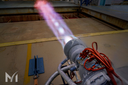 Liquid methane rocket engine test
