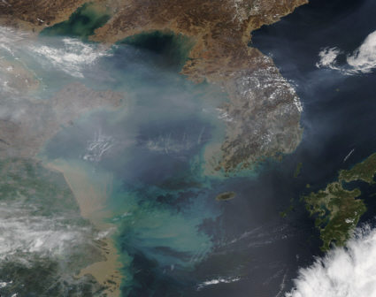 Air pollution Yellow Sea