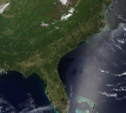 Southeastern U.S. from space