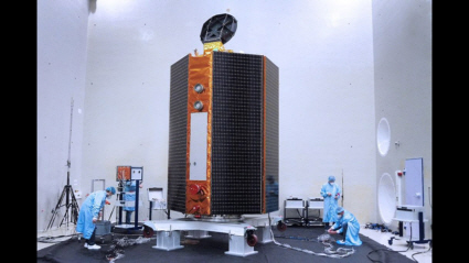Acoustic testing of the Sentinel-6 spacecraft