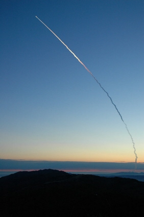 Image of smoke trail from the Delta IV rocket / NROL-22 launch