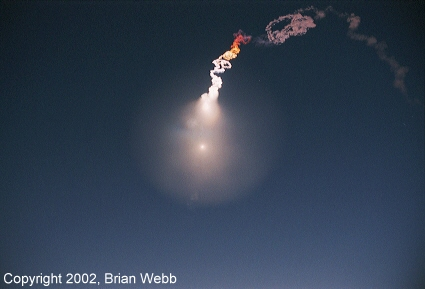 Minuteman III exhaust plume reaches maximum size